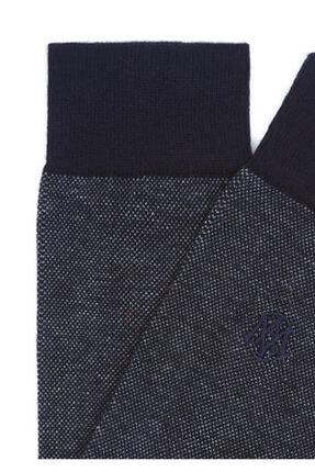 Mavi Erkek Lacivert Desenli Uzun Çorap 1