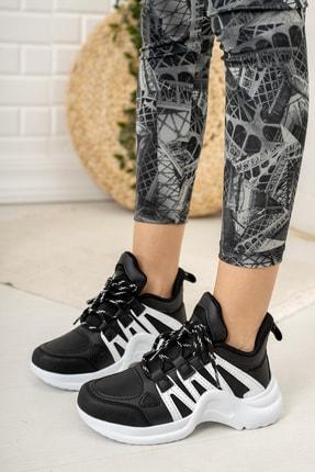 Moda Değirmeni Kadın Siyah Sneaker Ayakkabı Md1054-101-0001 1