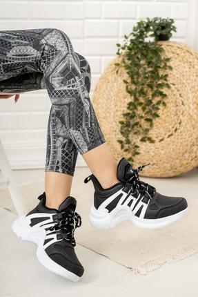 Moda Değirmeni Kadın Siyah Sneaker Ayakkabı Md1054-101-0001 2