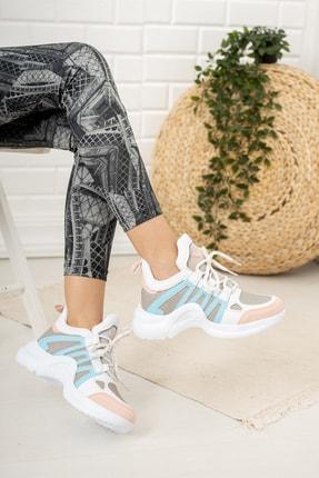 Moda Değirmeni Kadın Bebe Mavi  Sneaker Ayakkabı  Md1054-101-0001 2