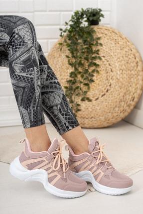 Moda Değirmeni Kadın Gül Kurusu Sneaker Md1054-101-0001 0