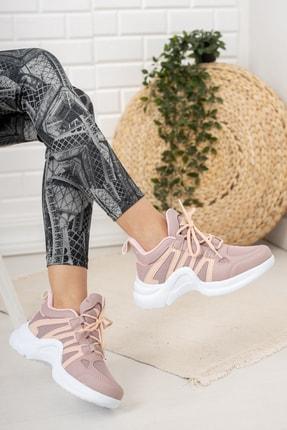 Moda Değirmeni Kadın Gül Kurusu Sneaker Md1054-101-0001 2