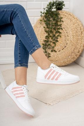 Moda Değirmeni Kadın Beyaz Pudra Sneaker Md1053-101-0002 2