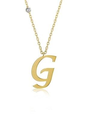 Demas Gold Pırlanta 14 Ayar Altın G Harfi Kolyelik 2