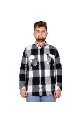 Picture of Büyük Beden Erkek Gömlek Çift Cep Oduncu 20392 Lacivert