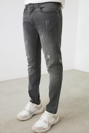 TRENDYOL MAN Gri Erkek Skinny Jeans TMNAW21JE0818 4