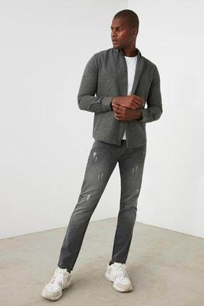 TRENDYOL MAN Gri Erkek Skinny Jeans TMNAW21JE0818 3