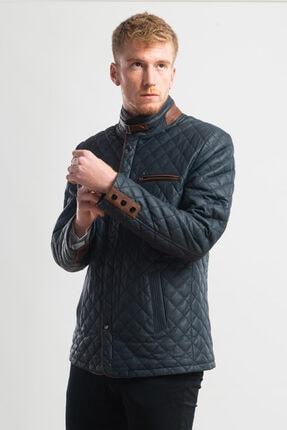 Erkek Hakiki Deri Kapitone Blazer Ceket NEBA BLAZER