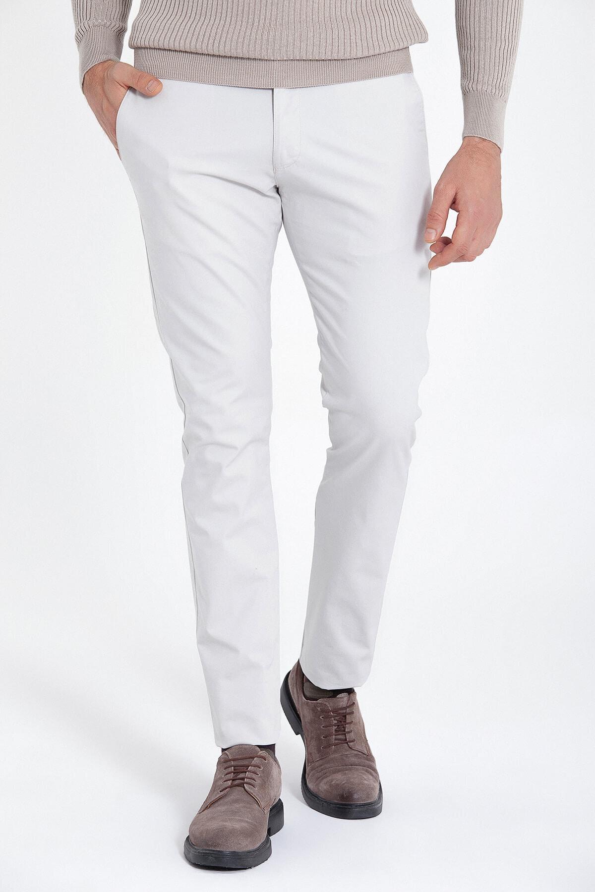 Erkek Bej Slim Fit Spor Pantolon