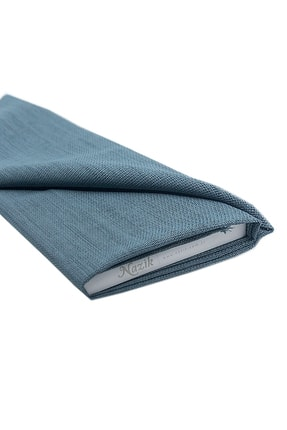 Nazik Home Linen Keten Kumaş Mavi Renk 1