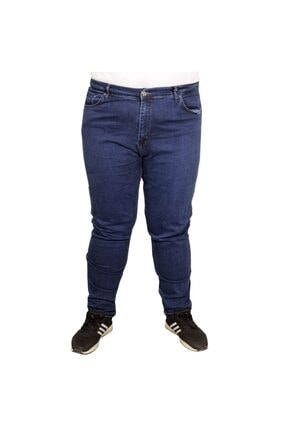 Modexl Büyük Beden Erkek Pantolon Kot 20900 Mavi 0