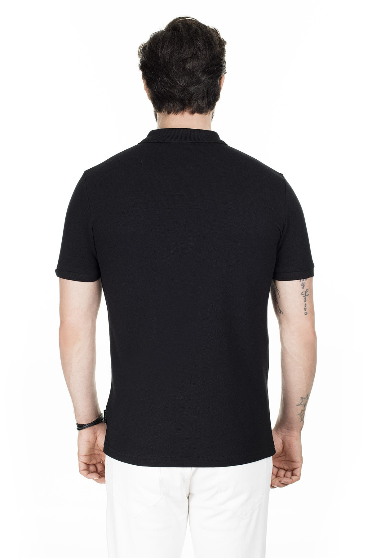 Buratti Erkek Siyah Düğmeli Polo Yaka Pamuklu Günlük T Shirt 4362050 1