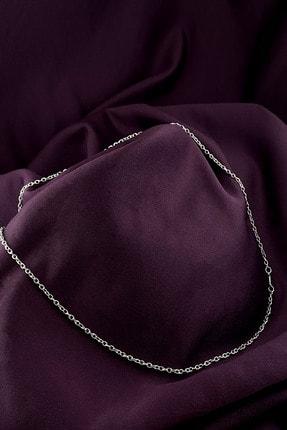 MOONİ ACCESSORİES Hac Model Şık Tasarım Mat Gümüş Kaplama Zincir Kolye 2