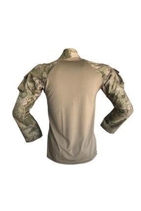 Flaş Askeri Malzeme Erkek Yeşil Tsk Yeni Kamuflaj Combat Tişört Operasyon Tişörtü 1
