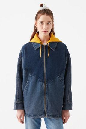 Mavi Kadın Kapüşonlu İndigo Ceket 110815-10241 3
