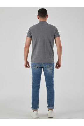 Ltb Erkek  Antrasıt Polo Yaka T-Shirt 012208450860890000 3