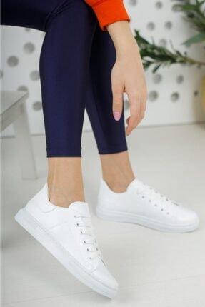 Moda Frato Unisex Beyaz Bağcıklı Günlük Spor Ayakkabı 1