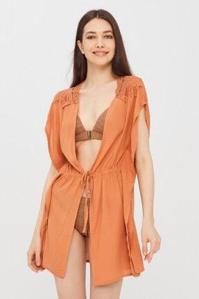 Penti Kadın Koyu Turuncu Leavy Kimono 0