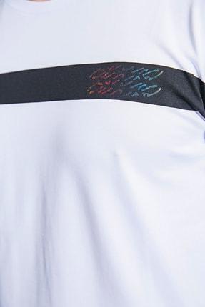 Sateen Men Erkek Beyaz Baskılı T-Shirt 2