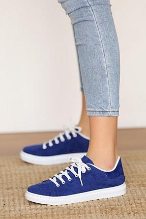 Pembe Potin Kadın Saksnubuk Ayakkabı 1