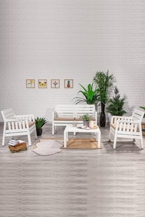 SANDALİE Lara 2 1 1 S Balkon&teras Bahçe Mobilyası / Beyaz 0
