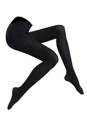 QCalze Kadın Siyah Külotlu Opak Mikro 80 Denye Çorap 0