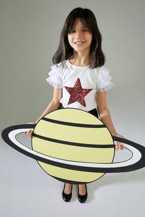 Defacto Kız Çocuk Yıldız Payetli Kısa Kol Tişört 4