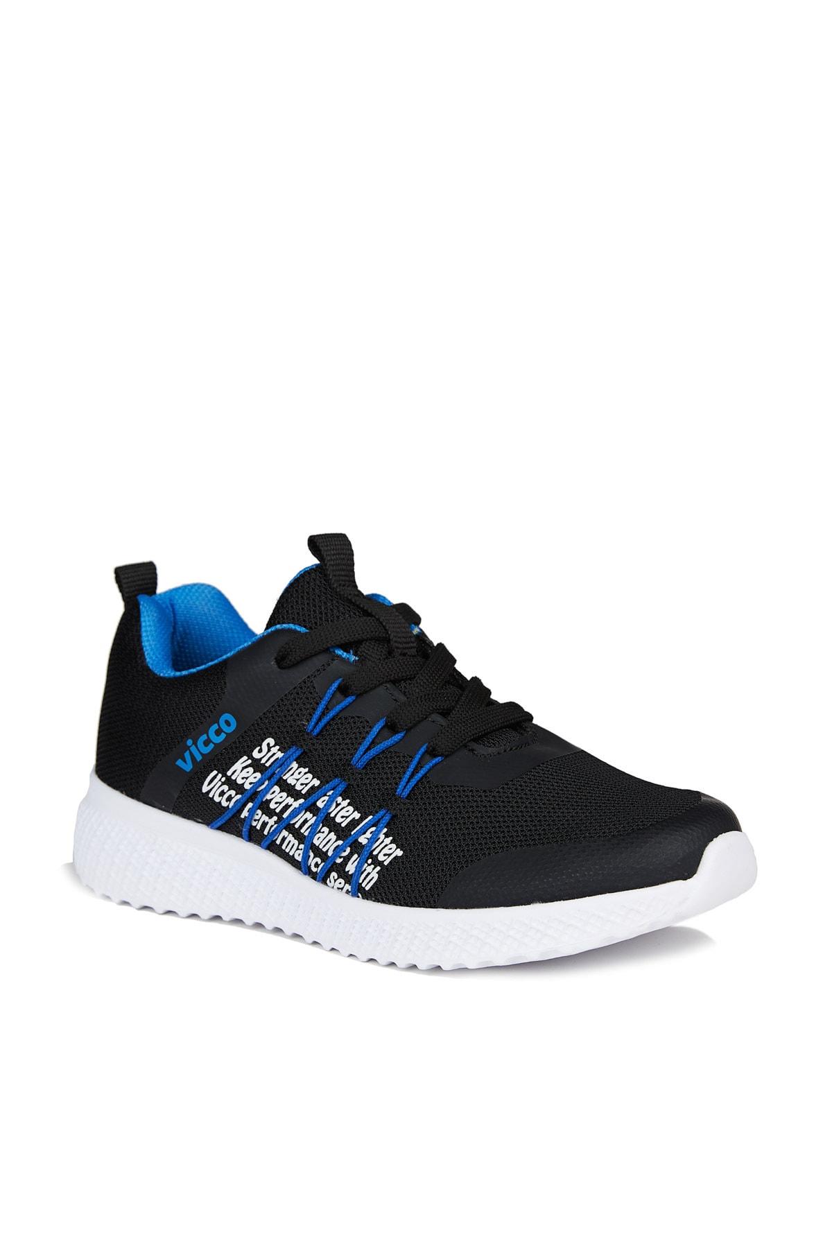 Vicco Active Unisex Çocuk Siyah Spor Ayakkabı