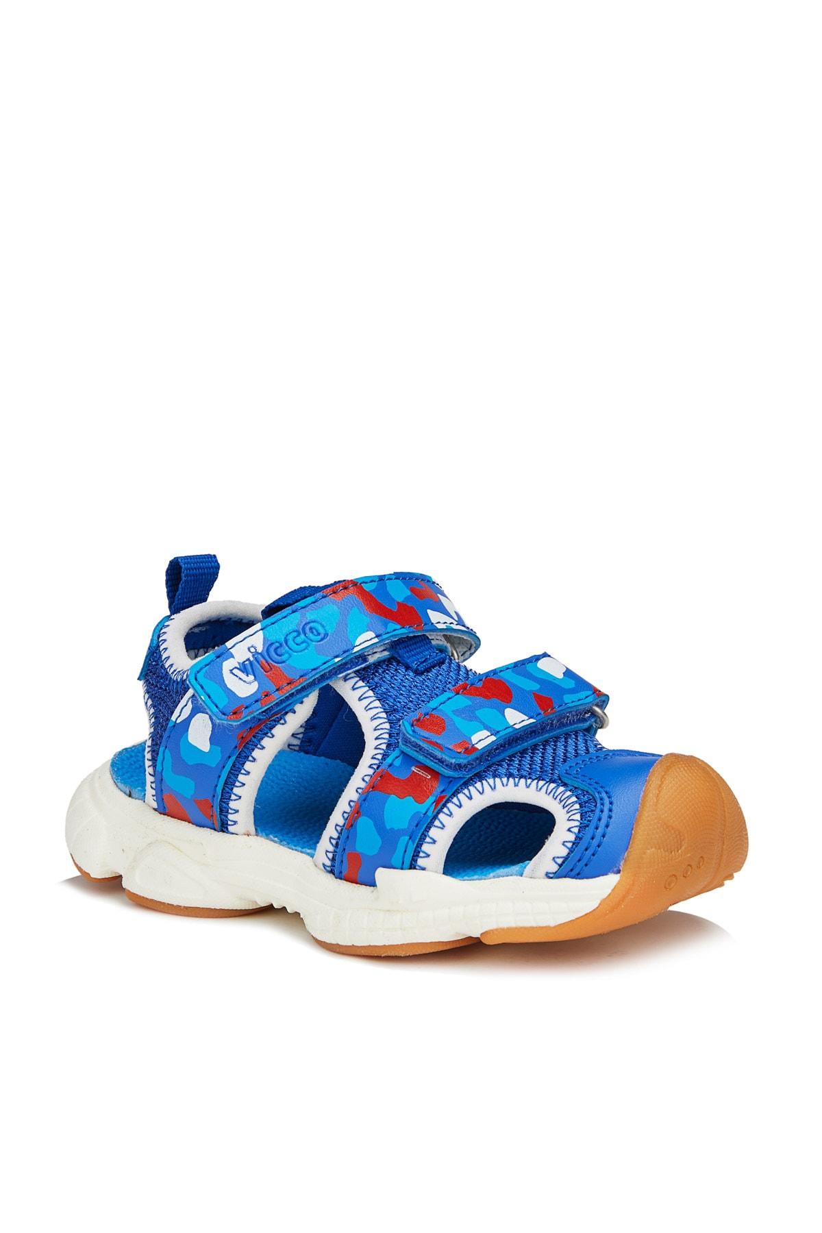 Leo Hafif Erkek Bebe Saks Mavi Sandalet