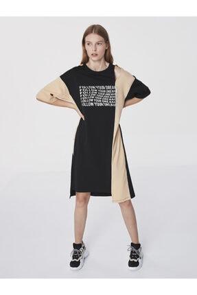 Twist Slogan Baskılı Sweat Elbise 3