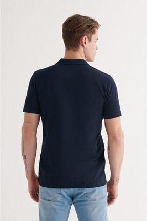 Avva Erkek Lacivert Polo Yaka Düz T-shirt A11b1146 3