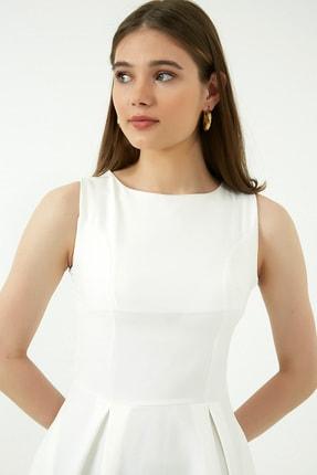 Vis a Vis Kadın Beyaz Midi Kolsuz Elbise 2