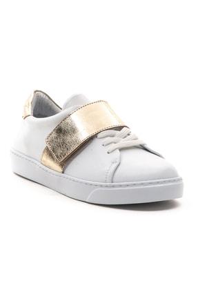 GRADA Kadın Beyaz Hakiki Deri Önden Tek Bantlı Sneaker Ayakkabı 2