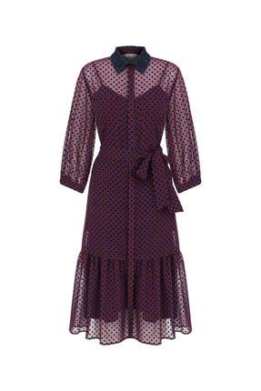 İpekyol Puantiye Desen Tül Elbise 4