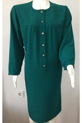 Kadın Zümrüt Yeşili Tesettür Tunik TNK013
