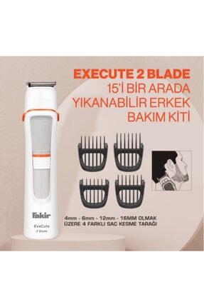 Fakir Execute 2 Blade 15'i Bir Arada Beyaz Erkek Bakım Kiti 1