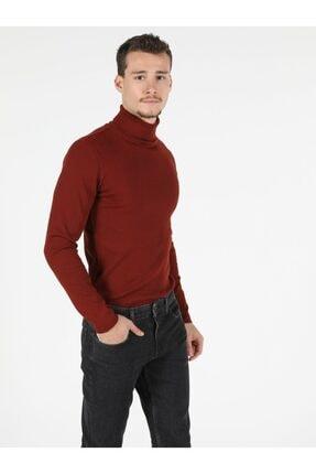 Colin's Slim Fit Balikci Erkek Kiremit Tshirt U.kol 2