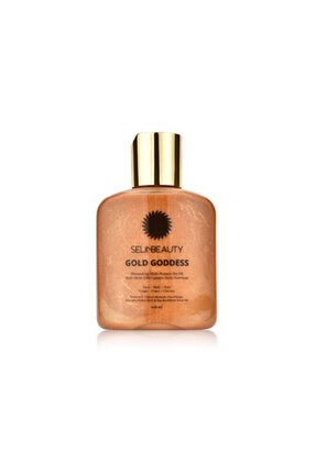 Selin Beauty Çok Amaçlı Parlak Kuru Yağ - Gold Goddess Shimmering Multi Purpose Dry Oil 100 ml 0