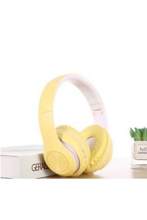 Hooptech Sarı Macaron Set Bluetooth Kablosuz Stereo Kulaklık 0