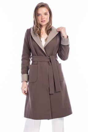 Dewberry Kadın Vizon Palto 0