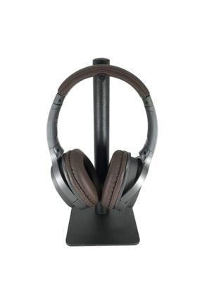 LESGO Siyah Masaüstü Metal Tekli Kulaklık Standı Oyuncu Kulaklık Standı 0