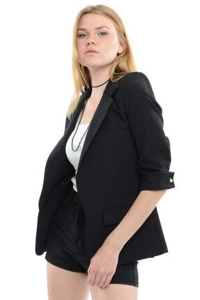 Reyon Kadın Siyah Kol İncili Blazer Ceket  18910001XXX 1