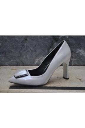 Bayan Gümüş Topuklu Ayakkabı 13846034710974
