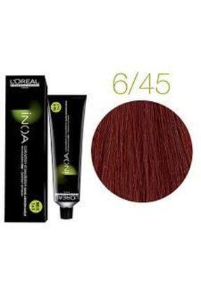 İNOA 6.45 Numara Koyu Kumral Bakır Akaju Saç Boyası 60 Ml (oksidansız) 0