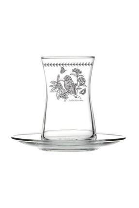 çerçi Bohemia Kuş Desen 6'lı Çay Bardağı Seti Bhm04-k 0