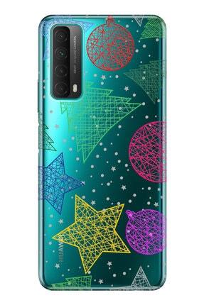 cupcase Huawei P Smart 2021 Kılıf Esnek Silikon Telefon Kabı Kapak - Noel Yıldız 0