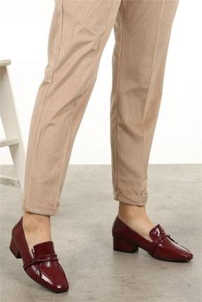 Mio Gusto Katrina Bordo Rugan Topuklu Ayakkabı 1