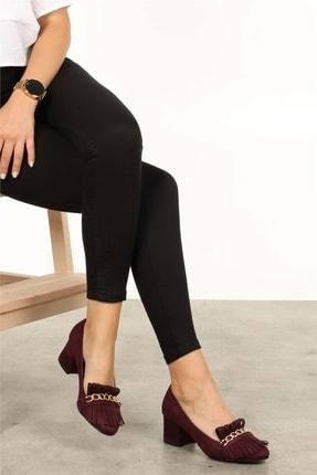 Mio Gusto Sharon Bordo Topuklu Ayakkabı 1