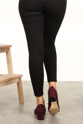 Mio Gusto Sharon Bordo Topuklu Ayakkabı 4