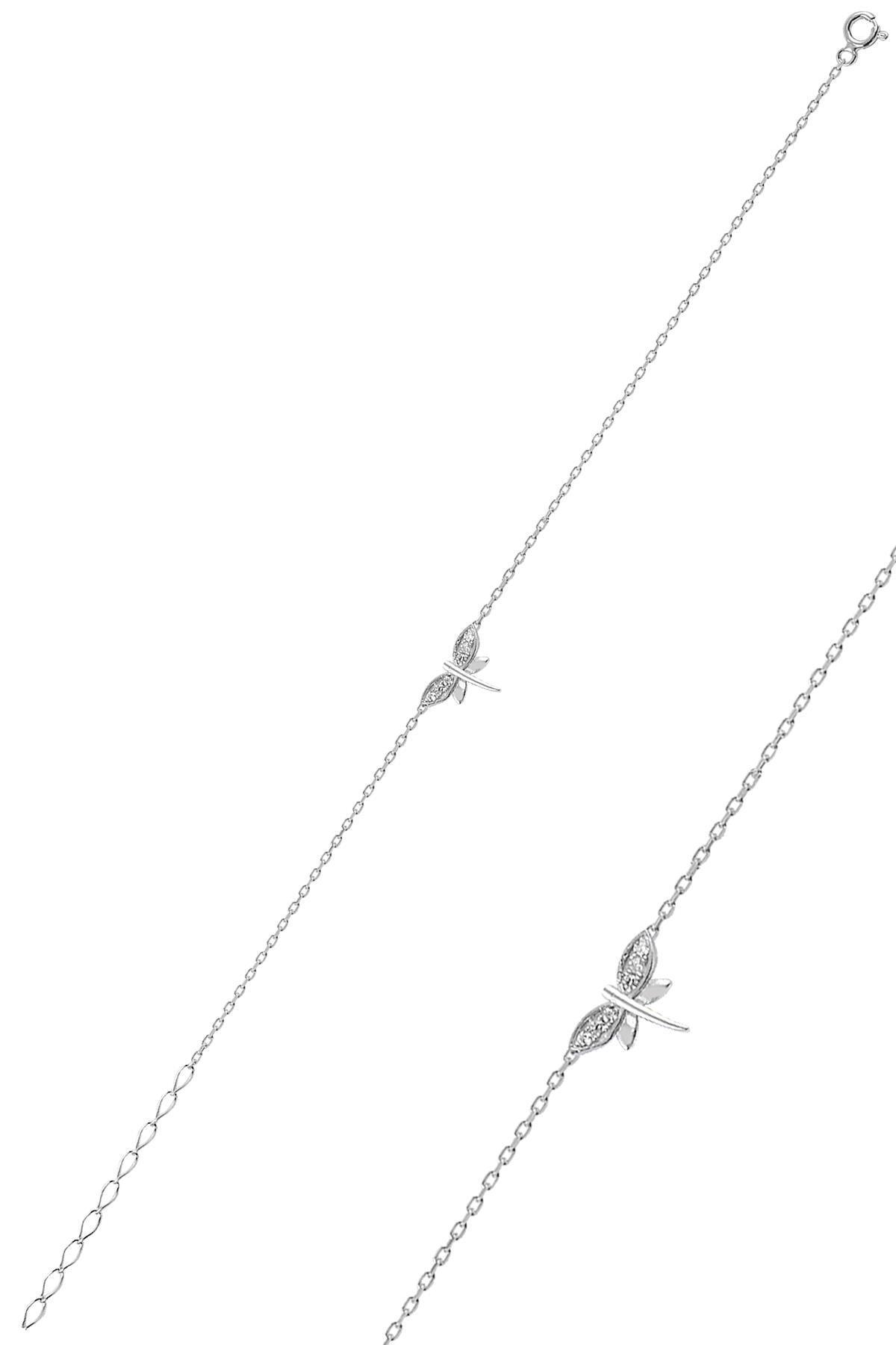 Söğütlü Silver Gümüş Rodyumlu Yusufçuk Kolye Bileklik Ve Küpe Gümüş Üçlü Set 1